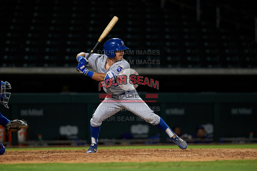 AZL Royals Jimmy Govern (8) at bat during an Arizona League game against the AZL Cubs 1 on June 30, 2019 at Sloan Park in Mesa, Arizona. AZL Royals defeated the AZL Cubs 1 9-5. (Zachary Lucy/Four Seam Images)