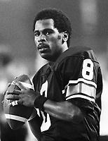Jimmy Jones, Ottawa Rough Riders quarterback 1979. Copyright photograph Scott Grant