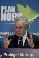 Montreal (Qc) CANADA - February 5 2012 File Photo - Jean Charest, Premier of Quebec  unveil the PLAN NORD about mining development in Northen Quebec