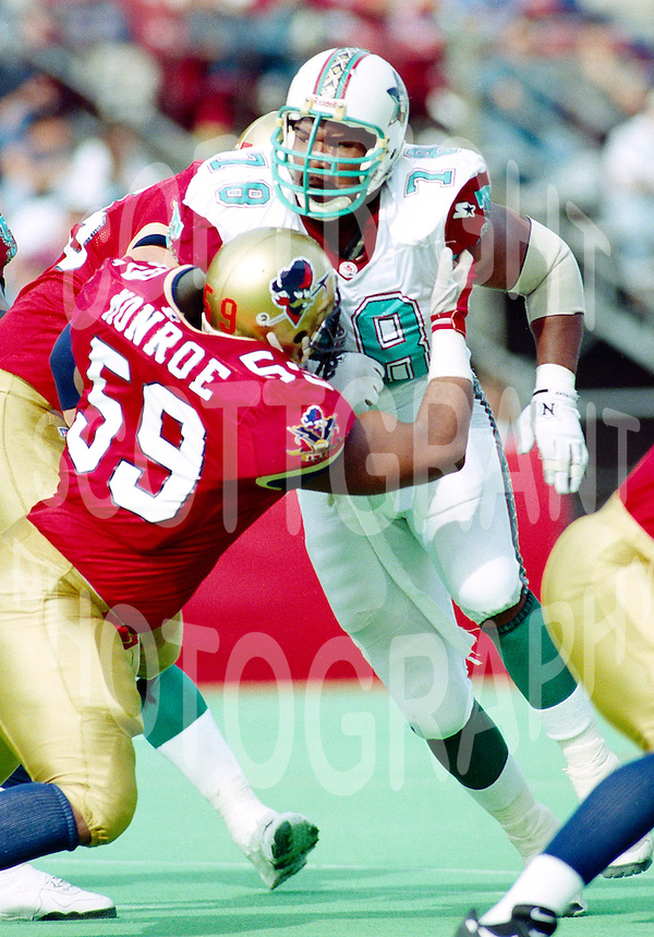 Willie Fears San Antonio Texans 1995. Photo F. Scott Grant