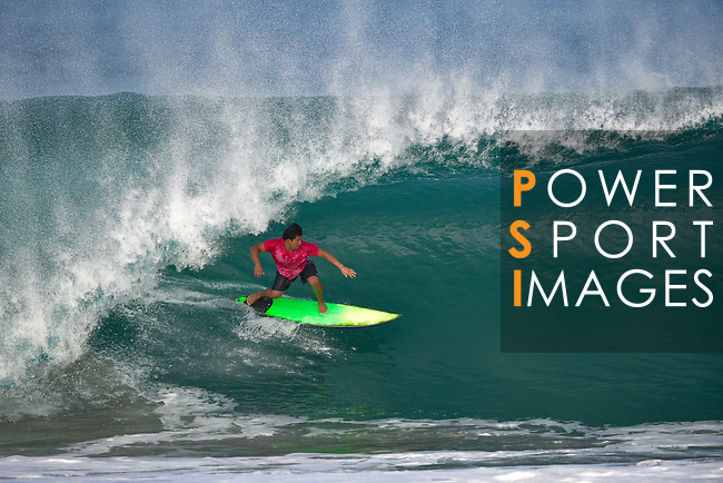 Mexican surfer Jafet Ramos rides a wave at Puerto Escondido's Zicatela Beach in Mexico. Photo by Victor Fraile / Power Sport Images