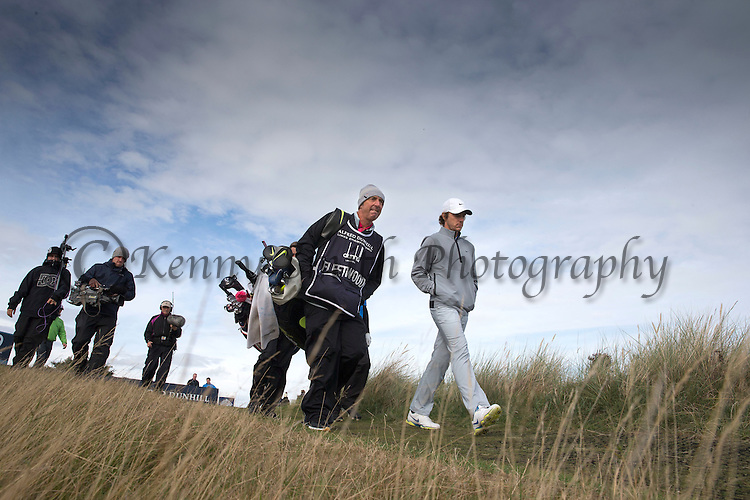 Tommy Fleetwood walks off the 8th tee during round three of the Alfred Dunhill Links Championship at St Andrews Old Course. PRESS ASSOCIATION Photo. Picture date: Saturday October 4, 2014. See PA story GOLF Dunhill. Photo credit should read: Kenny Smith/PA Wire. RESTRICTIONS: Use subject to restrictions. Editorial use only. No commercial use. Call +44 (0)1158 447447 for further information.