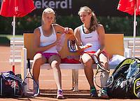 August 9, 2014, Netherlands, Rotterdam, TV Victoria, Tennis, National Junior Championships, NJK, Final double girls 16 years: Isolde de Jong (R) and  Nina Kruijer (NED)<br /> Photo: Tennisimages/Henk Koster