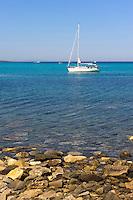 Spiaggia della Pelosa bei Stintino, Provinz Sassari, Nord - Sardinien, Italien