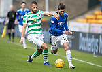 St Johnstone v Celtic…03.02.19…   McDiarmid Park    SPFL<br />Matty Kennedy fends off Jeremy Toljan<br />Picture by Graeme Hart. <br />Copyright Perthshire Picture Agency<br />Tel: 01738 623350  Mobile: 07990 594431