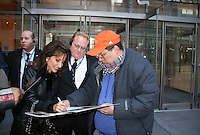 Susan Lucci signs autographs outside TimesCenter State - All My Children at 40 celebrate on January 10, 2010 at the New York Times Arts & Leisure Weekend at the TimesCenter Stage, New York City, New York. (Photo by Sue Coflin/Max Photos)