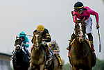 May 18, 2019 : War of Will #1, ridden by Tyler Gaffalione, wins the Preakness Stakes on Preakness Day at Pimlico Race Course in Baltimore, Maryland. Alex Evers/Eclipse Sportswire/CSM