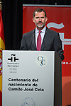 20160907. King Felipe VI at centenary of Camilo Jose Cela.