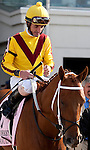 March 2010:  Island Soul and Robby Albarado before the Louisiana Derby at the Fair Grounds in New Orleans, La.