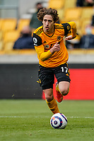23rd May 2021; Molineux Stadium, Wolverhampton, West Midlands, England; English Premier League Football, Wolverhampton Wanderers versus Manchester United; Fábio Silva of Wolverhampton Wanderers brings the ball out of defence
