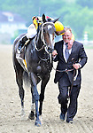 09 May 16:  Calvin Borel and assistant trainer Scott Blasi share a moment after Borel rode filly Rachel Alexandra to victory in the 134th running of the grade 1 Preakness Stakes for three year olds at Pimlico Race Track in Baltimore, Maryland.