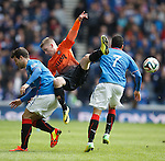 Ryan Gauld falls over Richard Foster