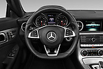 Car pictures of steering wheel view of a 2019 Mercedes Benz SLC Roadster SLC300 2 Door Convertible