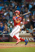 Will Banfield (11) of Brookwood High School in Lawrenceville, Georgia at bat during the Under Armour All-American Game presented by Baseball Factory on July 29, 2017 at Wrigley Field in Chicago, Illinois.  (Mike Janes/Four Seam Images)