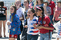 Santa Clara, CA - Sunday May 12, 2019: Fans before the women's national teams of the United States (USA) and South Africa (RSA) play in an international friendly match at Levi's Stadium.