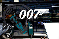 9th September 2021; Nationale di Monza, Monza, Italy; FIA Formula 1 Grand Prix of Italy, Driver arrival and inspection day:  Track display for James Bond 007 films