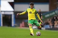 2nd October 2021;  Turf Moor, Burnley, Lancashire, England; Premier League football, Burnley versus Norwich City: Dimitris Giannoulis of Norwich City passes the ball
