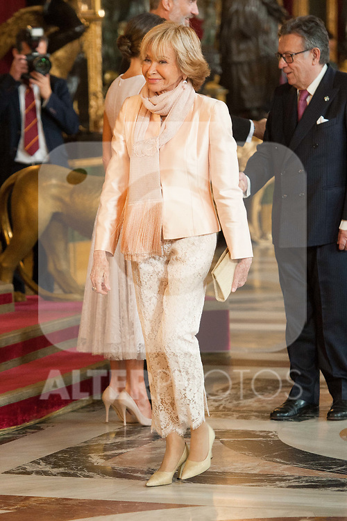 Maria Teresa Fernandez de la Vega attends to Sapnish National Day palace reception at the Royal Palace in Madrid, Spain. October 12, 2018. (ALTERPHOTOS/A. Perez Meca)