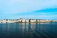 Waterfront houses, Sailfish Point, Roanoke Island, North Carolina, USA