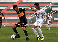 TULUA-COLOMBIA, 17-10-2020: Boca Juniors de Cali y Leones F. C., durante partido por la fecha 13 del Torneo BetPlay DIMAYOR 2020 en el estadio Doce de Octubre de la ciudad de Tulua. / Boca Juniors de Cali and Leones F. C., during a match for the 11th date of the BetPlay DIMAYOR 2020 tournament at the Doce de Octubre de stadium in Tulua city. / Photo: VizzorImage / Juan Jose Horta / Cont.