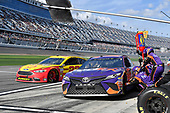 Monster Energy NASCAR Cup Series<br /> The Advance Auto Parts Clash<br /> Daytona International Speedway, Daytona Beach, FL USA<br /> Sunday 11 February 2018<br /> Denny Hamlin, Joe Gibbs Racing, FedEx Express Toyota Camry<br /> World Copyright: Rusty Jarrett<br /> LAT Images