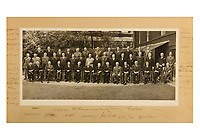 BNPS.co.uk (01202 558833)<br /> Pic: ChiswickAuctions/BNPS<br /> <br /> A never-before-seen photograph showing Prime Minister Winston Churchill hosting the very first conference of the heads of the Commonwealth at a critical time in the war has come to light.<br /> <br /> The 23ins by 27ins black and white photo was shot in the back garden 10 Downing Street on April 27, 1944, just five weeks before the Allied invasion of Nazi-occupied France.<br /> <br /> The prime ministers of Canada, Australia, New Zealand and South Africa were among the VIPS who attended the historic event.<br /> <br /> The unique photo is coming up for sale at Chiswick Auctions.
