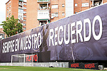First professional soccer match in Spain after the stoppage of the Coronavirus pandemic. Rayo Vallecano v Albacete BP. Poster of tribute to the victims of the Covid-19<br /> Rayo Vallecano and Albacete BP during Second Division La Liga Smartbank match. June 10, 2020. (ALTERPHOTOS/Acero)