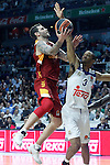 Real Madrid's Anthony Randolph (r) and Galatasaray Odeabank Istambul's Vladimir Micov during Euroleague, Regular Season, Round 5 match. November 3, 2016. (ALTERPHOTOS/Acero)