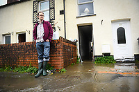Flooding effected the villages of Aberdulais and Tonna in the Neath Valley after Storm Callum brought heavy rain and wind to the area cuasing the River Neath to reach bursting point. <br /> Pictured is Canal Side resident, Luke Springthorpe, who's home was flooded. Saturday 13 October 2018