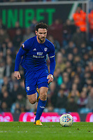 Sean Morrison of Cardiff City during the Sky Bet Championship match between Aston Villa and Cardiff City at Villa Park, Birmingham, England on 10 April 2018. Photo by Mark  Hawkins / PRiME Media Images.