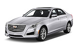 2019 Cadillac CTS Luxury 4 Door Sedan angular front stock photos of front three quarter view