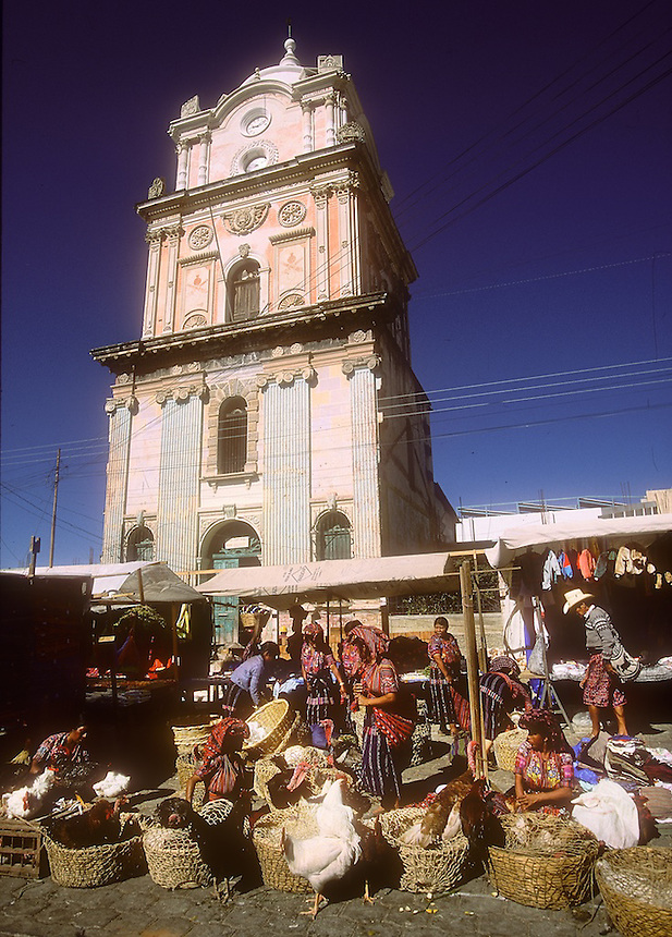 Friday is market day for the mostly Mayan people of Solola, Guatemala, and surounding villages. Photograph by Peter E. Randall