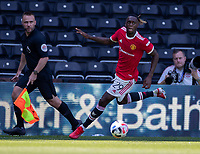 18th July 2021; Pride Park, Derby, East Midlands; Pre Season Friendly Football, Derby County versus Manchester United;  Aaron Wan-Bissaka of Manchester United drives along the wing