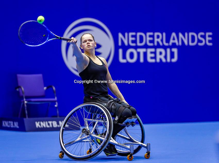 Rotterdam, Netherlands, December 12, 2017, Topsportcentrum, Ned. Loterij NK Tennis, Womans Wheelchair, Donna Jansen (NED)<br /> Photo: Tennisimages/Henk Koster
