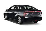 Car pictures of rear three quarter view of 2017 Toyota Mirai Mirai 4 Door Sedan Angular Rear