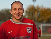 Brad Guzan. U.S. Men's National Team training at RFK Stadium  Monday October 12, 2009  in Washington, D.C.