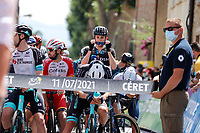 11th July 2021, Ceret, Pyrénées-Orientales, France; Tour de France cycling tour, stage 15, Ceret to  Andorre-La-Vieille;  rider of Team DSM  during stage 15 of the 108th edition of the 2021 Tour de France cycling race, a stage of 191,3 kms between Ceret and Andorre-La-Vieille