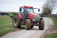 3-3-2021 Applying nitrogen to Winter wheat in Lincolnshire. <br /> ©Tim Scrivener Photographer 07850 303986<br />      ....Covering Agriculture In The UK....