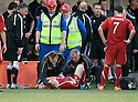 24/08/2010   Copyright  Pic : James Stewart.sct_jsp010_alloa_v_aberdeen  .:: FRASER FYVIE IS TREATED AT THE SIDE OF THE PITCH BEFORE BEING CARRIED OFF :: .James Stewart Photography 19 Carronlea Drive, Falkirk. FK2 8DN      Vat Reg No. 607 6932 25.Telephone      : +44 (0)1324 570291 .Mobile              : +44 (0)7721 416997.E-mail  :  jim@jspa.co.uk.If you require further information then contact Jim Stewart on any of the numbers above.........