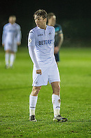 Monday  19 December 2014<br /> Pictured: George Byers of Swansea City<br /> Re: Swansea City U23 v Middlesbrough u23 at the Landore Training Facility, Swansea, Wales, UK