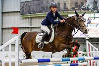 NZL-Emma Gillies rides Benrose Playtime. Class 28: Trev Terry Marine Pony 1.15m-1.20m - FINAL. 2021 NZL-Easter Jumping Festival presented by McIntosh Global Equestrian and Equestrian Entries. NEC Taupo. Sunday 4 April. Copyright Photo: Libby Law Photography