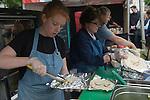Fosse Meadows Farm Rotisserie Highgate, North London Farmers Market.  <br /> 2015.