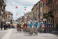 2013 Giro d'Italia.stage 13: Busseto - Cherasco ..peloton controlled by Team Astana for their pink race leader Vincenzo Nibali (ITA)