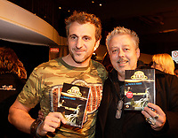 Montreal (Qc) CANADA- November 14, 2007 -<br /> Patrick Huard (L) ,Erik Canuel (R)<br /> Launch of  Taxi 2.20 - season 1  DVD at Bonsecour Market.<br /> <br /> photo (c) Pierre Roussel -   Images Distribution