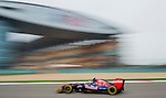 Scuderia Toro Rosso driver Jean-Eric Vergne of France speeds his car during the UBS Chinese F1 Grand Prix at Shanghai International circuit April 13, 2012. Photo by Victor Fraile