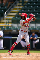 Palm Beach Cardinals Terry Fuller (7) bats during a game against the Bradenton Marauders on May 30, 2021 at LECOM Park in Bradenton, Florida.  (Mike Janes/Four Seam Images)