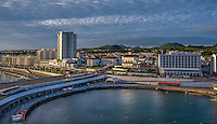 Fine Art Landscape Photograph, of the marina and costal ocean port in Ponta Delgada.
