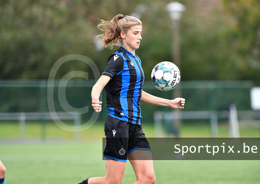 Brugge's Marie Minnaertpictured during a female soccer game between the women teams of Club Brugge YLA Dames and Union Saint-Ghislain Tertre-Hautrage Ladies on the 1/16 th qualifying round for the Belgian Womens Cup 2020  2021 , on saturday 26 th of September 2020  in Brugge , Belgium . PHOTO SPORTPIX.BE | SPP | DAVID CATRY