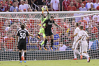 St Louis, MO. - August 1, 2016: A.S Roma defeated Liverpool 2-1 in an international friendly soccer game at Busch Stadium.