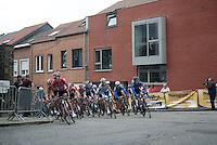 Team Lotto-Soudal leading the peloton over the Wijnpersstraat<br /> <br /> 50th GP Jef Scherens 2016